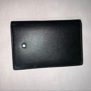 NWOB authentic MONT BLANC box calfskin card WALLET